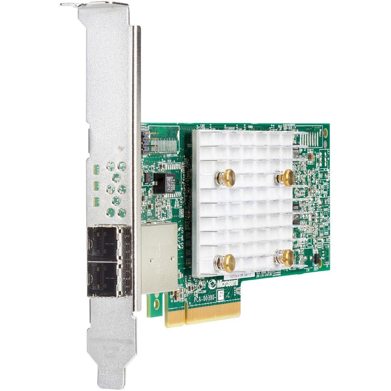 HPE Smart Array E208e-p SAS Controller - 12Gb/s SAS, Serial ATA/600 - PCI Express 3.0 x8 - Plug-in Card