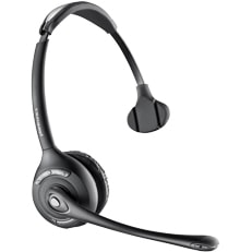 Plantronics Savi WH300 Wireless DECT Mono Headset - Over-the-head - Semi-open - Black