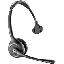 Plantronics Savi WH300 Wireless DECT Mono Headset - Over-the-head - Semi-open - Black