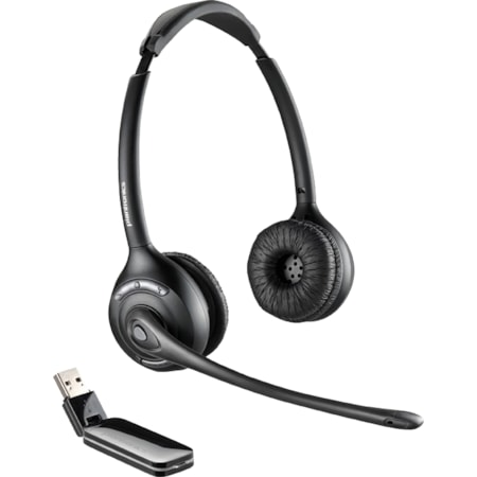 Plantronics Savi W420A-M Wireless DECT Stereo Headset - Over-the-head - Supra-aural - Black