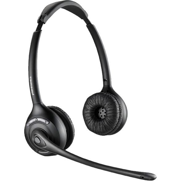 Plantronics Savi W420A Wireless DECT Stereo Headset - Over-the-head - Circumaural - Black