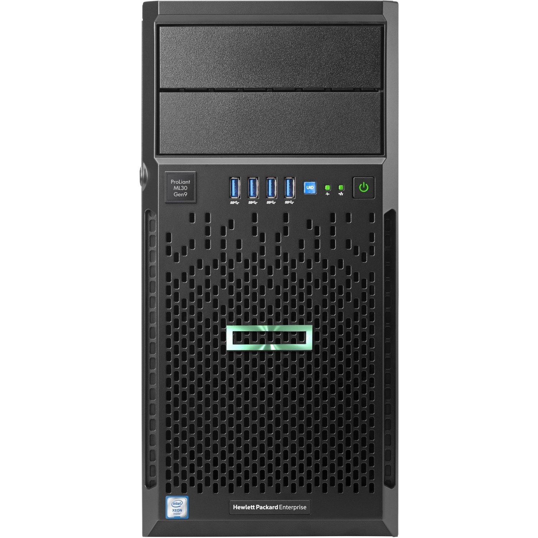 HPE ProLiant ML30 G9 4U Tower Server - 1 x Intel Xeon E3-1220 v6 Quad-core (4 Core) 3 GHz - 8 GB Installed DDR4 SDRAM - Serial ATA/600 Controller - 0, 1, 5, 10 RAID Levels - 460 W