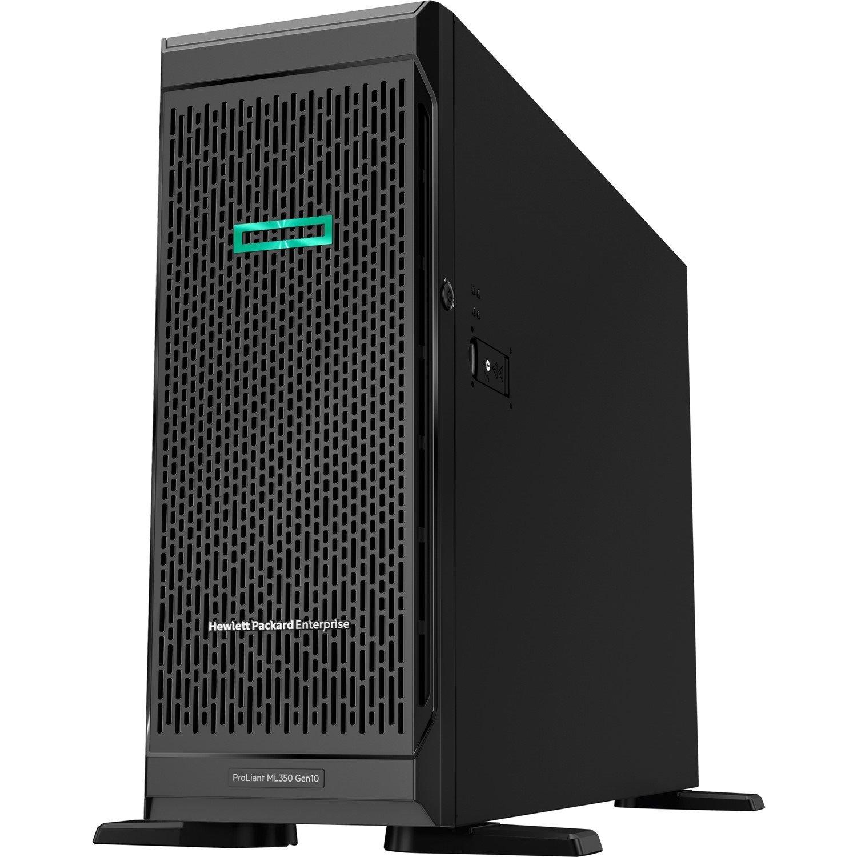 HPE ProLiant ML350 G10 4U Tower Server - 1 x Intel Xeon Silver 4110 Octa-core (8 Core) 2.10 GHz - 16 GB Installed DDR4 SDRAM - 12Gb/s SAS Controller - 1 x 800 W
