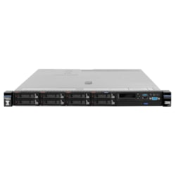 Lenovo System x x3550 M5 8869F2G 1U Rack Server - 1 x Intel Xeon E5-2640 v4 Deca-core (10 Core) 2.40 GHz - 16 GB Installed TruDDR4 - 12Gb/s SAS, Serial ATA Controller - 0, 1, 5, 10, 50 RAID Levels - 1 x 550 W
