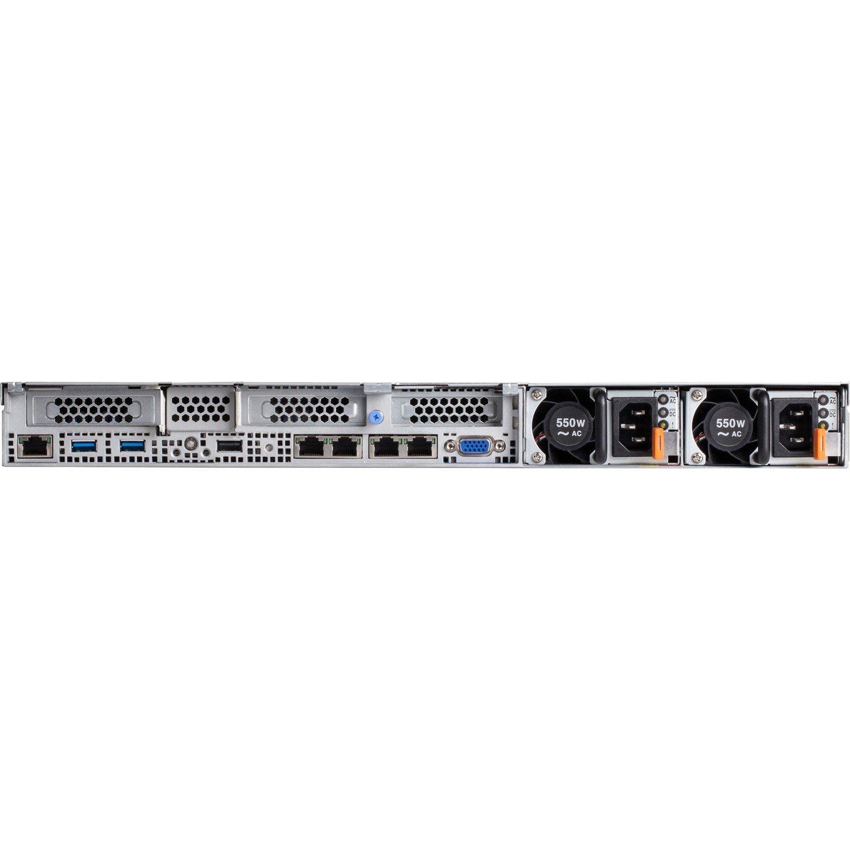 Lenovo System x x3550 M5 8869F2M 1U Rack Server - 1 x Intel Xeon E5-2640 v4 Deca-core (10 Core) 2.40 GHz - 16 GB Installed TruDDR4 - 12Gb/s SAS, Serial ATA Controller - 0, 1, 5, 10, 50 RAID Levels - 1 x 550 W