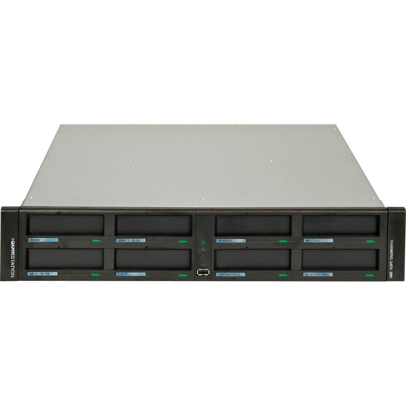 Tandberg Data QuikStation 8900-RDX 8 x Total Bays NAS Storage System - 2U Rack-mountable