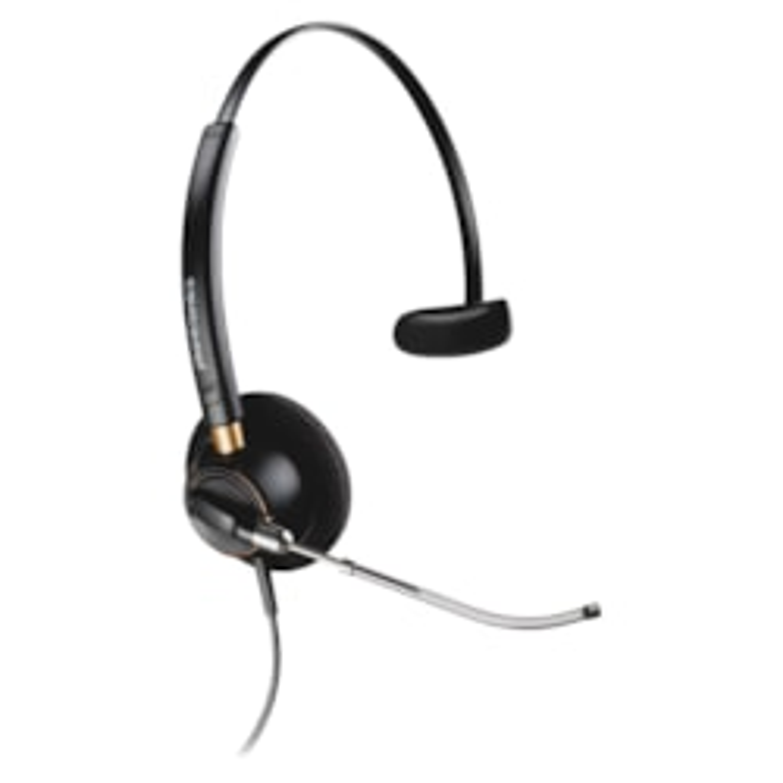 Plantronics EncorePro HW510V Wired Mono Headset - Over-the-head - Supra-aural