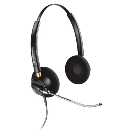Plantronics EncorePro HW520V Wired Stereo Headset - Over-the-head - Supra-aural