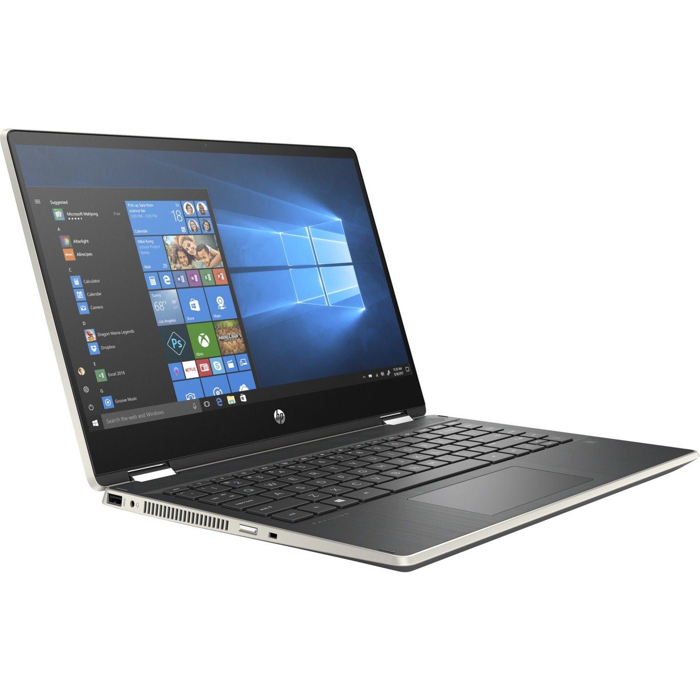 "HP Pavilion x360 14-dh1000 14-dh1076tu 35.6 cm (14"") Touchscreen 2 in 1 Notebook - HD - 1366 x 768 - Intel Core i5 (10th Gen) i5-10210U Quad-core (4 Core) 1.60 GHz - 8 GB RAM - 256 GB SSD"