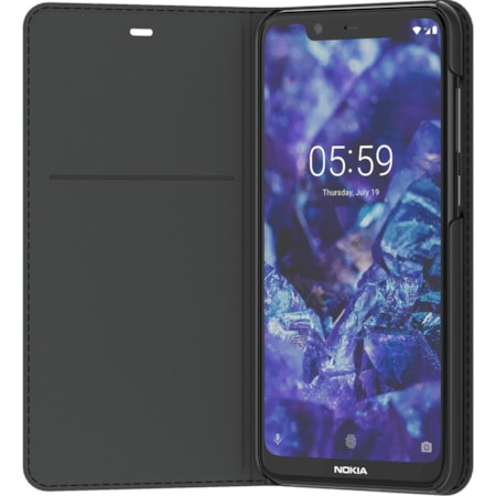 Nokia Entertainment Carrying Case (Flip) Nokia 5.1 Plus Smartphone - Black