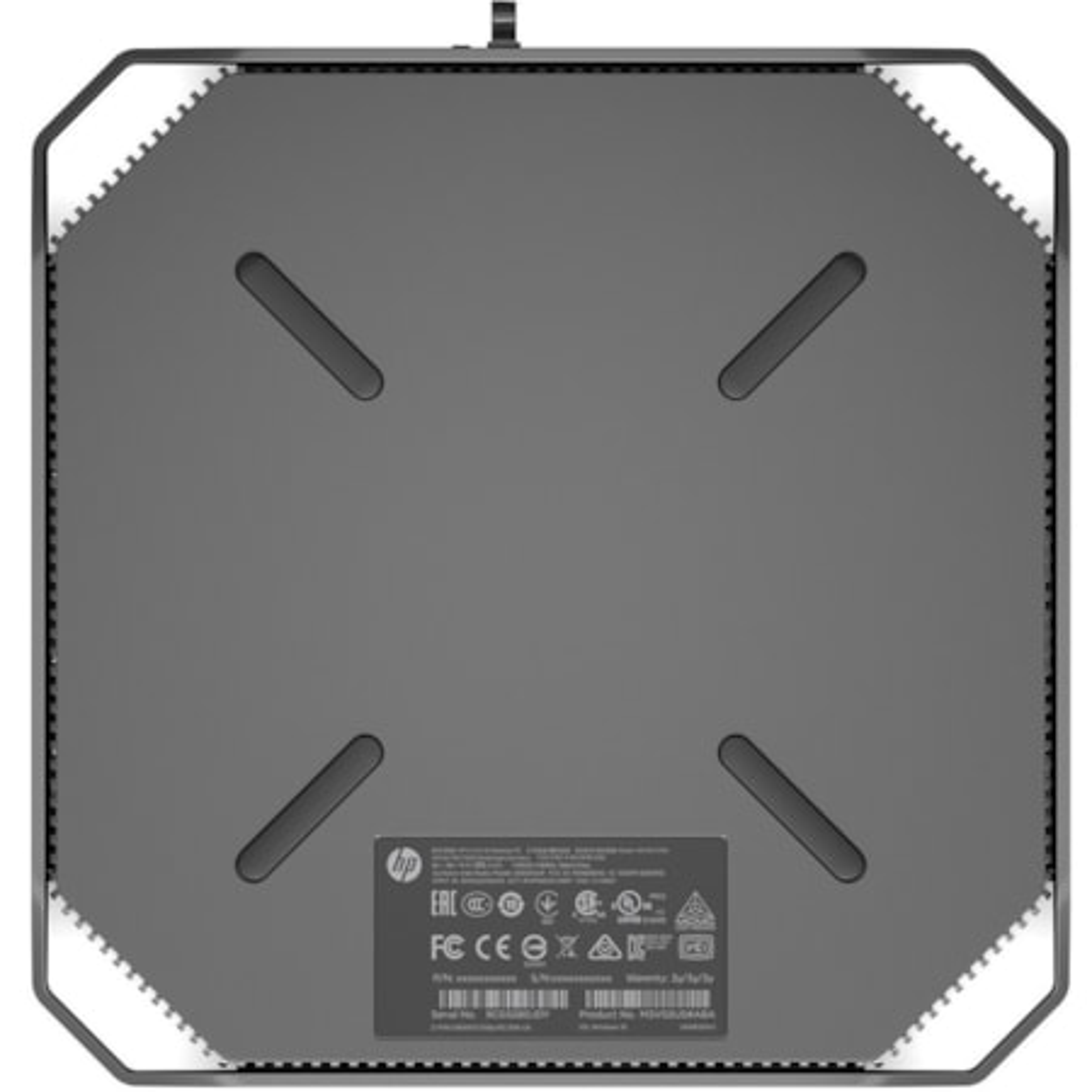 HP Z2 Mini G4 Workstation - 1 x Xeon E-2224G - 16 GB RAM - 1 TB HDD - 512 GB SSD - Mini PC - Space Gray, Black Chrome Accent