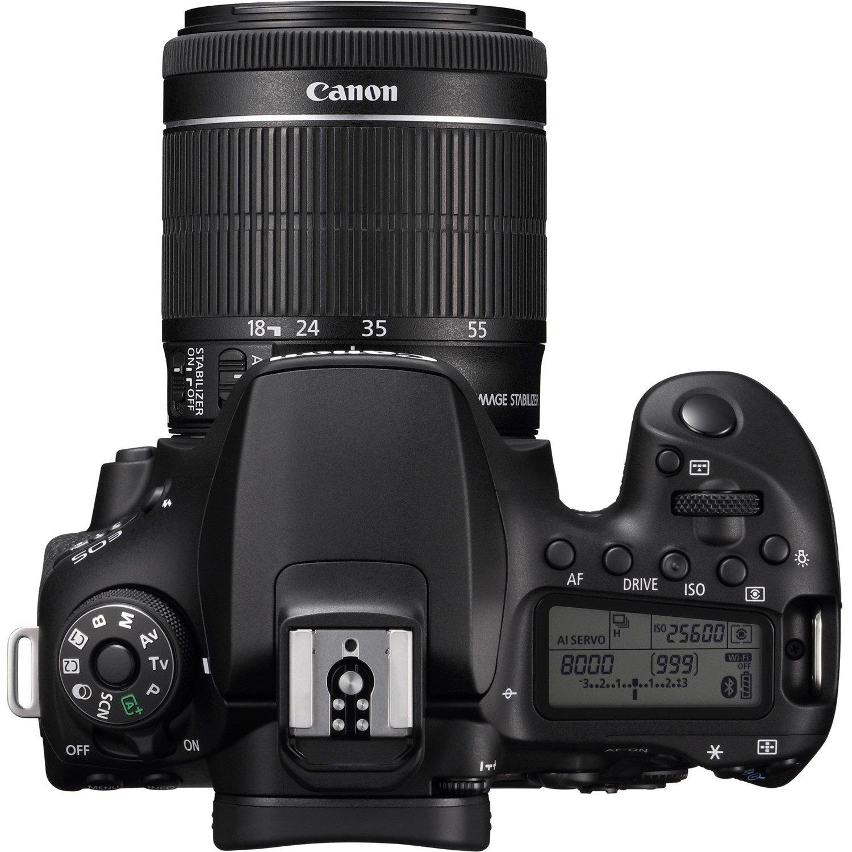 Canon EOS 90D 32.5 Megapixel Digital SLR Camera with Lens - 18 mm - 55 mm - Black