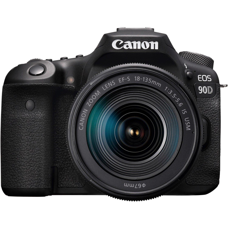 Canon EOS 90D 32.5 Megapixel Digital SLR Camera with Lens - 18 mm - 135 mm - Black