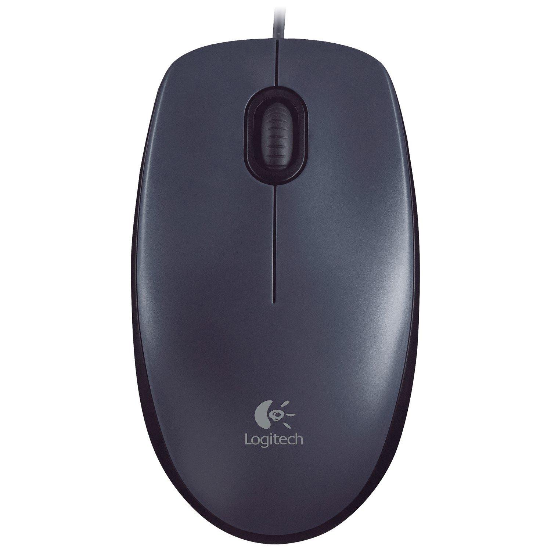 Logitech M90 Mouse - USB - Optical - Black