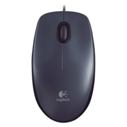 Logitech M90 Mouse - USB - Optical - Black