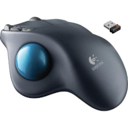 Logitech M570 Trackball - Radio Frequency - USB - Laser - Grey