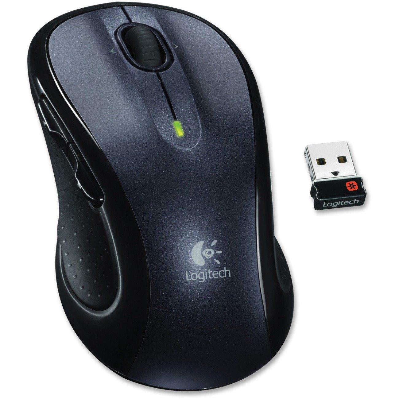 Logitech M510 Mouse - Laser - Wireless - Grey