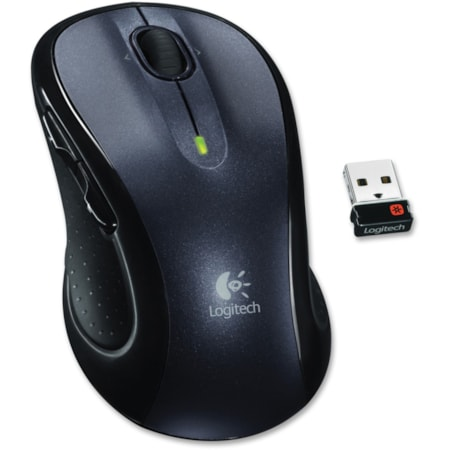 Logitech M510 Mouse - Laser - Wireless - Grey