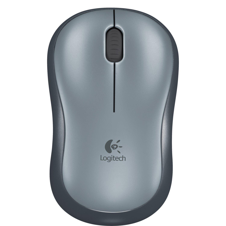 Logitech M185 Mouse - Radio Frequency - USB - Optical - Grey
