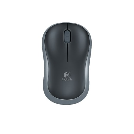 Logitech M185 Mouse - Radio Frequency - USB - Laser - Blue, Black