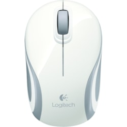 Logitech M187 Mouse - Radio Frequency - USB - White