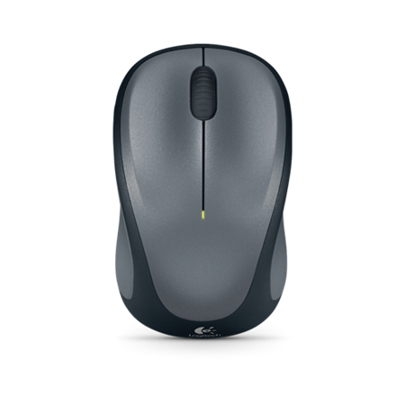 Logitech M235 Mouse - Optical - Wireless - Colt Gray