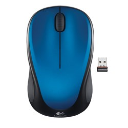Logitech M235 Mouse - Optical - Wireless - Blue