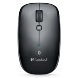 Logitech M557 Mouse - Bluetooth - Optical - Grey