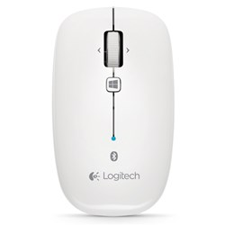 Logitech M557 Mouse - Optical - Wireless - White