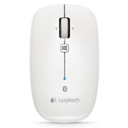 Logitech M557 Mouse - Bluetooth - Optical - White