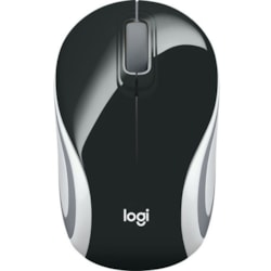 Logitech M187 Mouse - Radio Frequency - USB - Optical - 3 Button(s) - Black