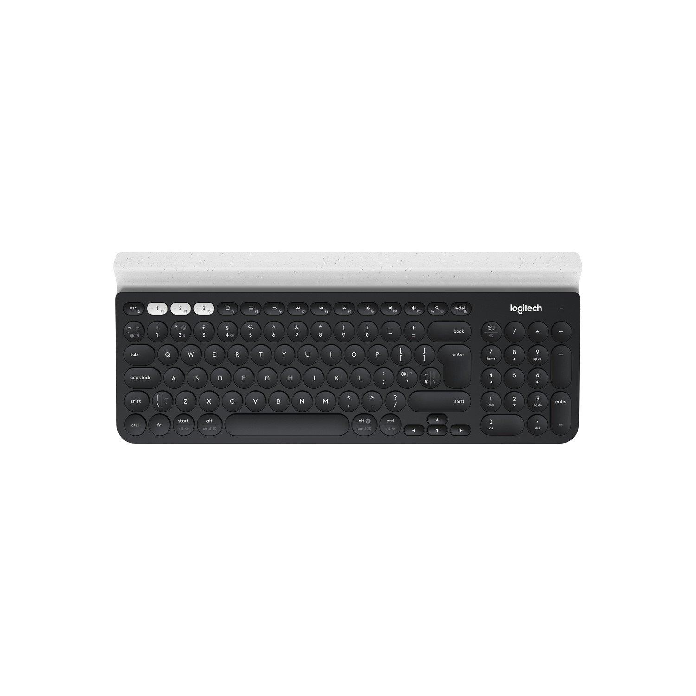 Logitech K780 Keyboard - Wireless Connectivity - USB Interface - White