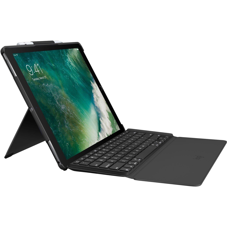 "Logitech Slim Combo Keyboard/Cover Case (Folio) for 32.8 cm (12.9"") iPad Pro - Black"