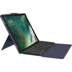 "Logitech Slim Combo Keyboard/Cover Case for 32.8 cm (12.9"") iPad Pro - Classical Blue"