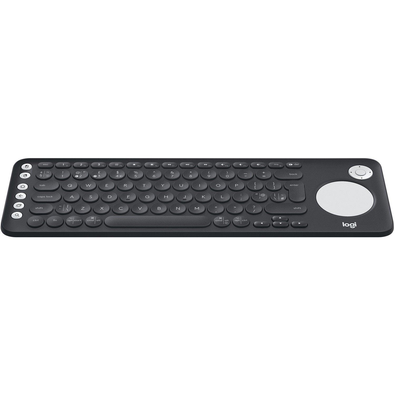 Logitech K600 Keyboard - Wireless Connectivity - USB Interface - D-pad, TouchPad