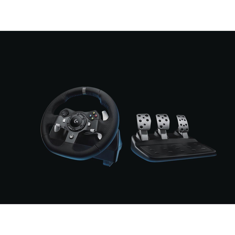 Logitech Driving Force G920 Gaming Steering Wheel, Gaming Pedal