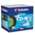 Verbatim Digital Vinyl 94439 CD Recordable Media - CD-R - 52x - 700 MB - 10 Pack Jewel Case