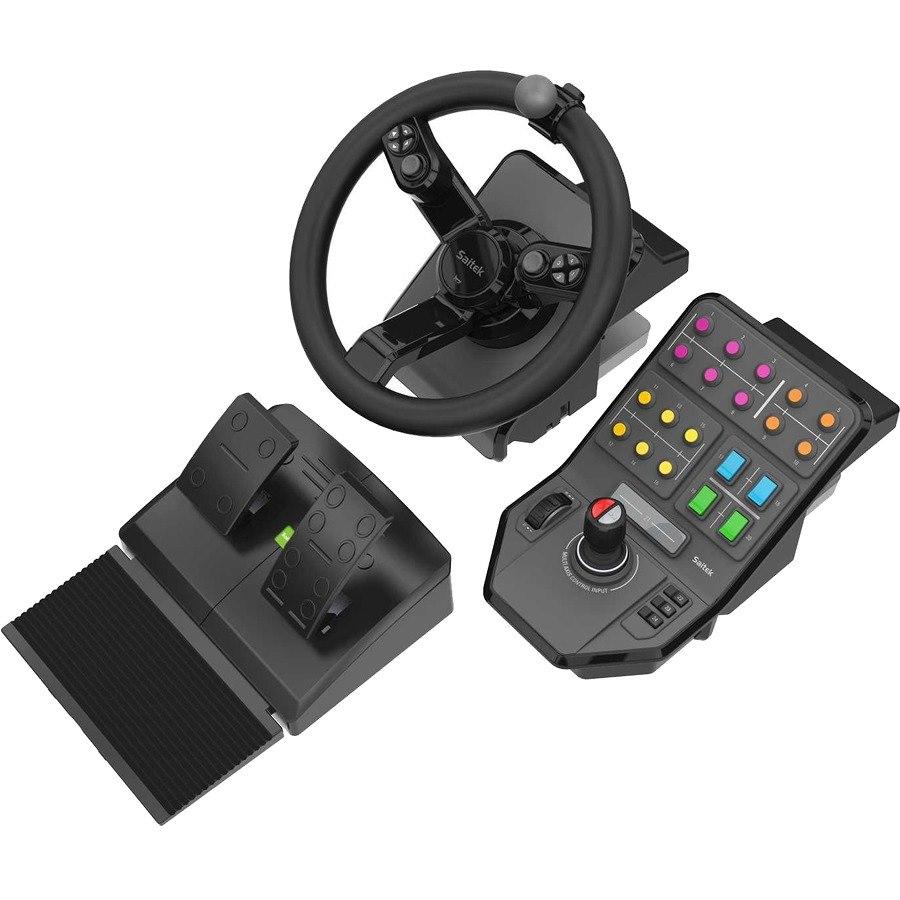 Saitek Gaming Steering Wheel, Gaming Pedal, Gaming Control Panel