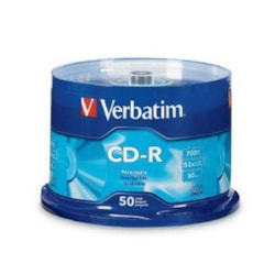 Verbatim 94691 CD Recordable Media - CD-R - 52x - 700 MB - 50 Pack Spindle