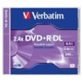 Verbatim DVD Recordable Media - DVD+R DL - 2.4x - 8.50 GB - 1 Pack Jewel Case