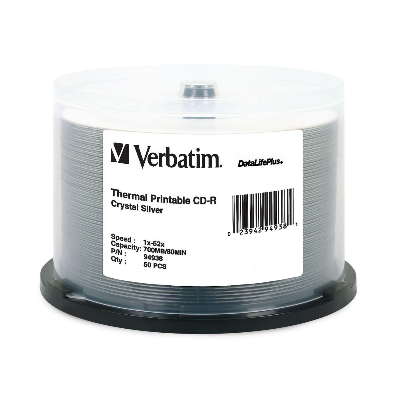 Verbatim DataLifePlus 94938 CD Recordable Media - CD-R - 52x - 700 MB - 50 Pack Spindle
