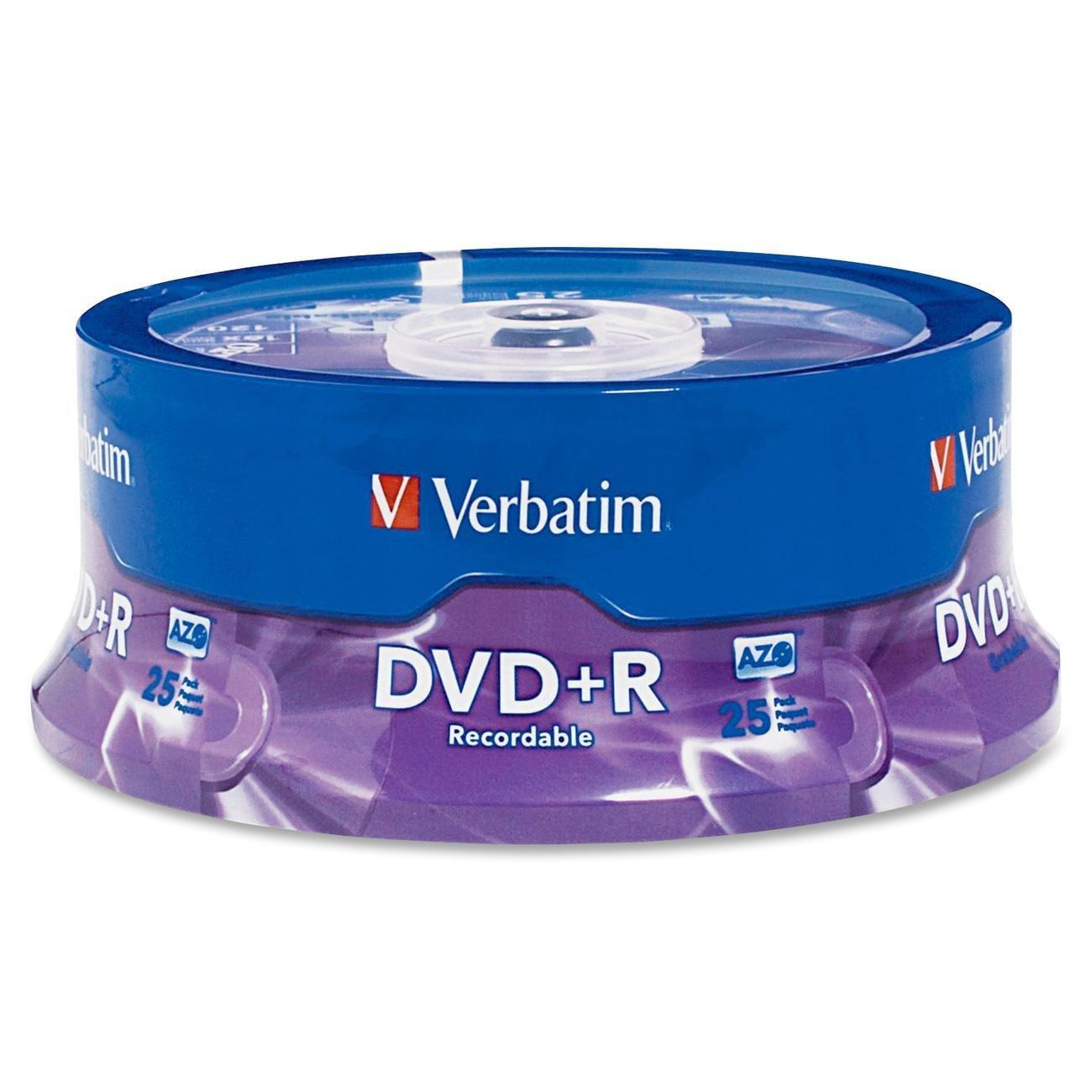 Verbatim DVD Recordable Media - DVD+R - 16x - 4.70 GB - 25 Pack Spindle - Retail