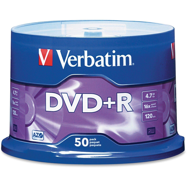 Verbatim 95037 DVD Recordable Media - DVD+R - 16x - 4.70 GB - 50 Pack Spindle