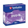 Verbatim DVD Recordable Media - DVD+R - 16x - 4.70 GB - 5 Pack Jewel Case