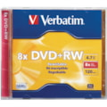 Verbatim 95071 DVD Rewritable Media - DVD+RW - 8x - 4.70 GB - 1 Pack Jewel Case