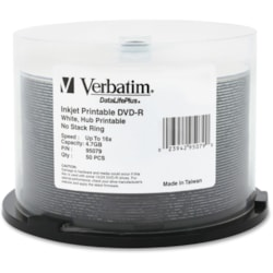 Verbatim DataLifePlus DVD Recordable Media - DVD-R - 16x - 4.70 GB - 50 Pack Spindle