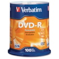 Verbatim DVD Recordable Media - DVD-R - 16x - 4.70 GB - 100 Pack Spindle