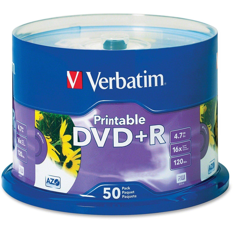 Verbatim DVD Recordable Media - DVD+R - 16x - 4.70 GB - 50 Pack Spindle