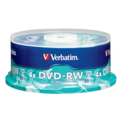 Verbatim DVD Rewritable Media - DVD-RW - 4x - 4.70 GB - 30 Pack Spindle