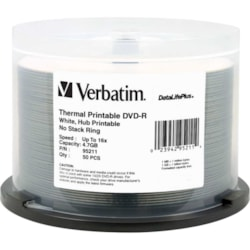 Verbatim DataLifePlus 95211 DVD Recordable Media - DVD-R - 16x - 4.70 GB - 50 Pack Spindle
